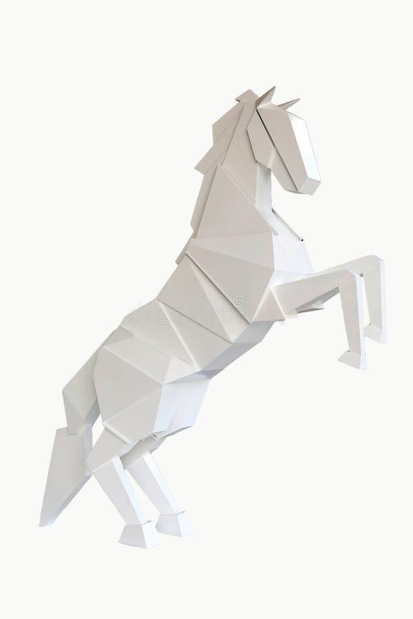 Деревянная лошадь изолированная на белой предпосылке стоковое фото