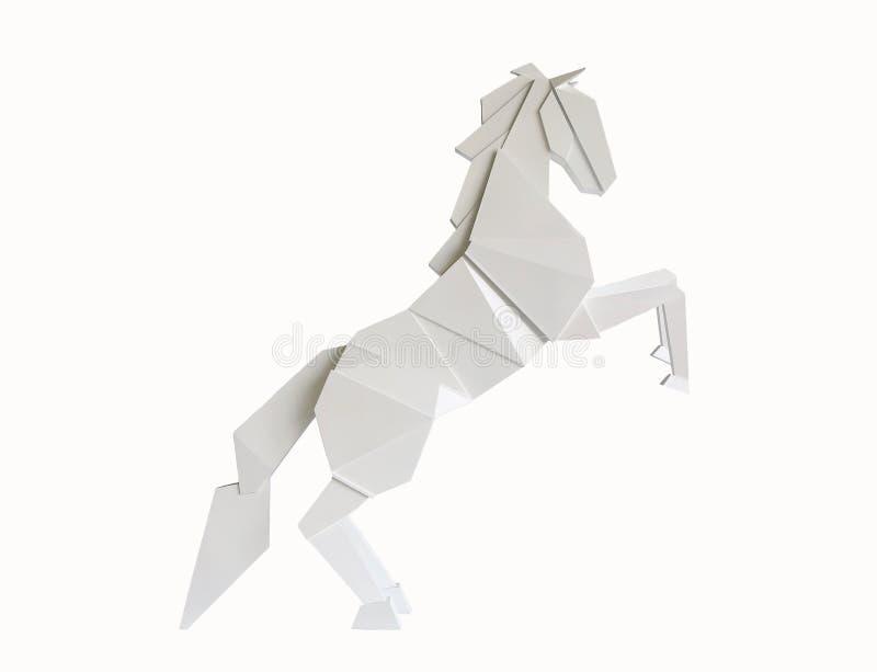 Деревянная лошадь изолированная на белой предпосылке стоковое изображение rf