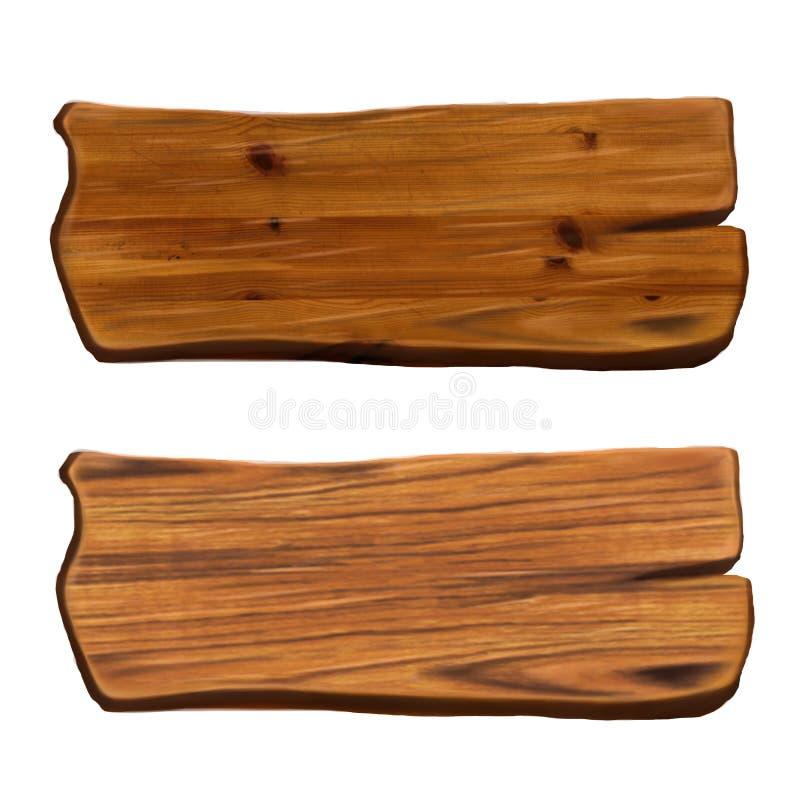 Деревянная металлическая пластинка бульвара стоковое изображение rf