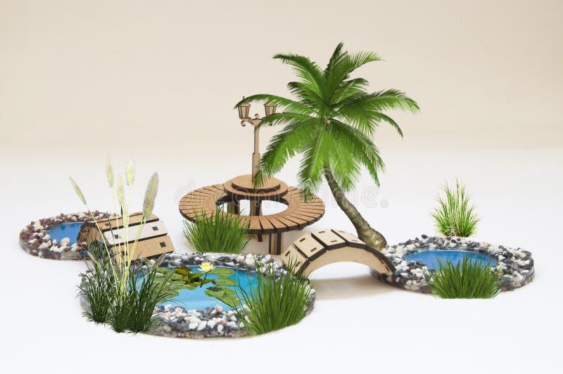 Деревянная модель игрушки стоковые изображения rf