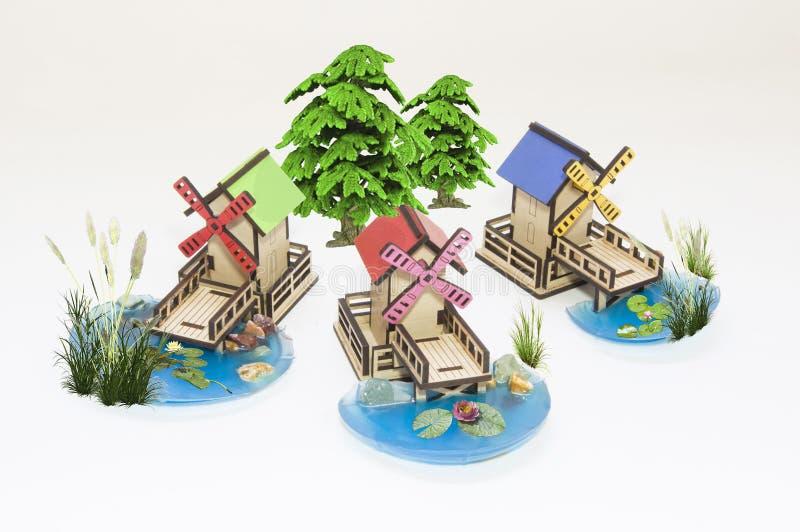 Деревянная модель игрушки стоковое фото rf