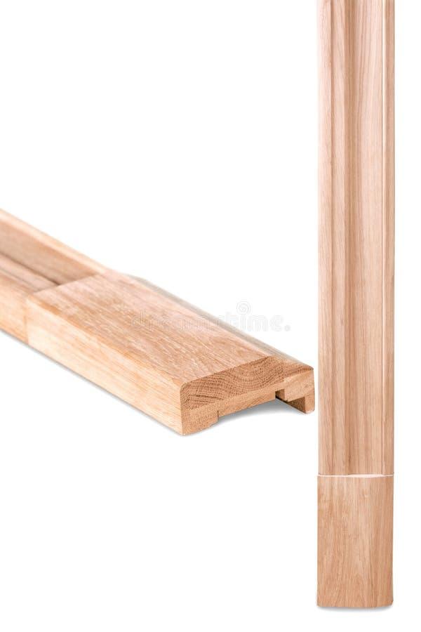 Деревянная отделка на белой предпосылке стоковое изображение rf