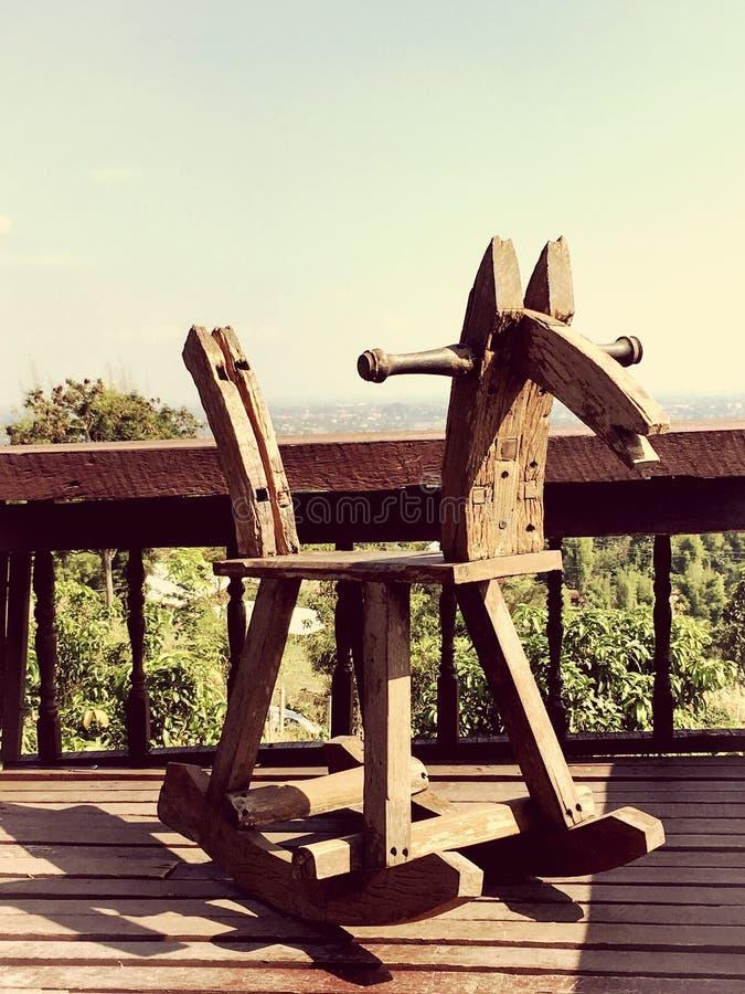 Деревянная лошадь стоковые изображения rf