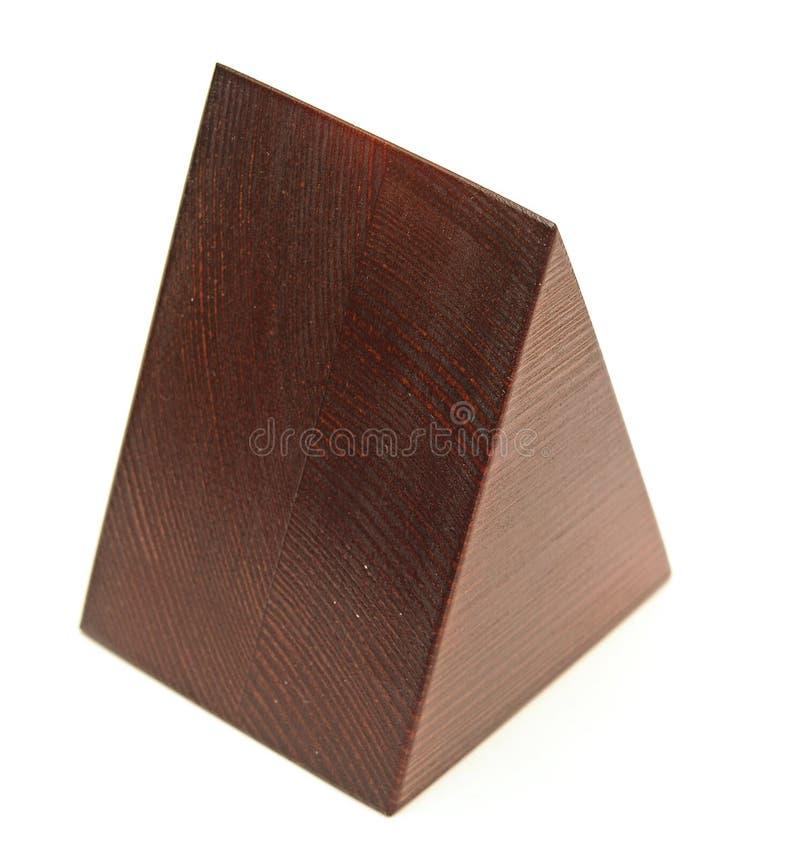 Деревянная пирамидка стоковые изображения rf
