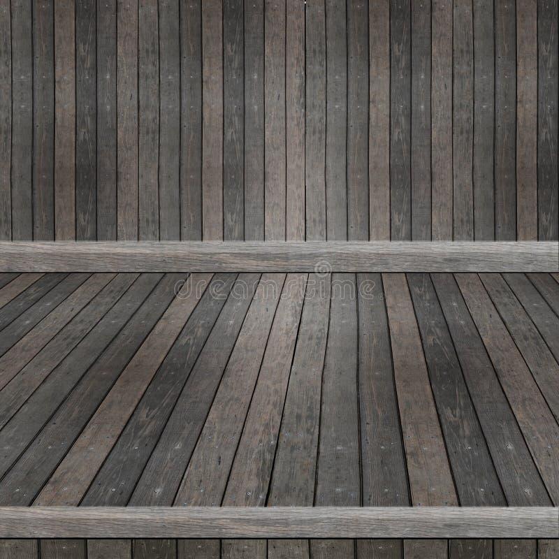 Деревянная полка для предпосылки Предпосылка для концепции дисплея продукта стоковое изображение rf