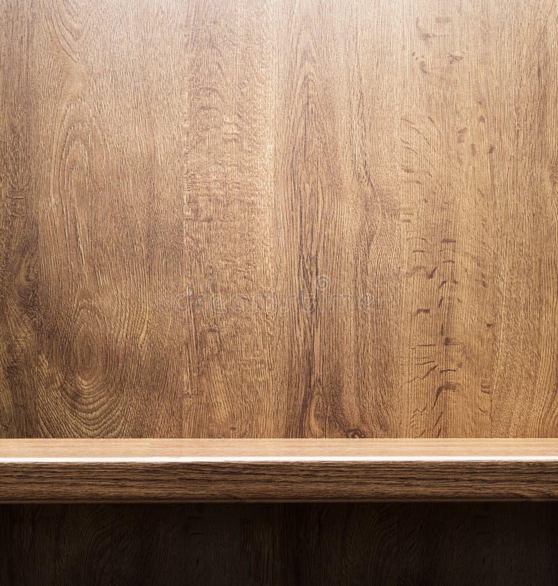 Деревянная полка стоковая фотография rf