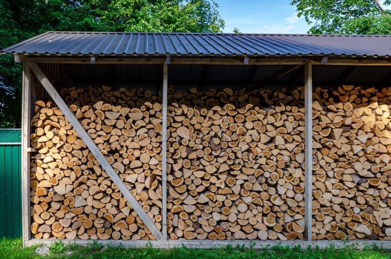 Деревянная предпосылка Засыхание на зима, стога швырка швырка стоковые изображения