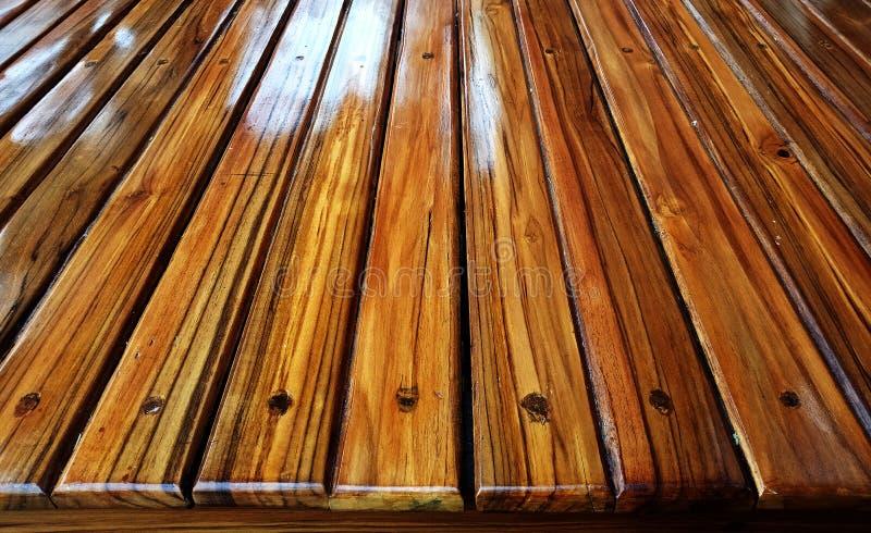 Деревянная предпосылка зерна планки текстуры, деревянная таблица стола или пол стоковые фото