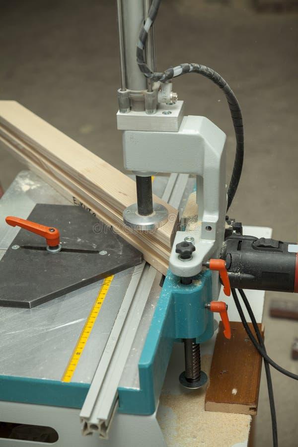 Деревянная работая машина стоковое изображение