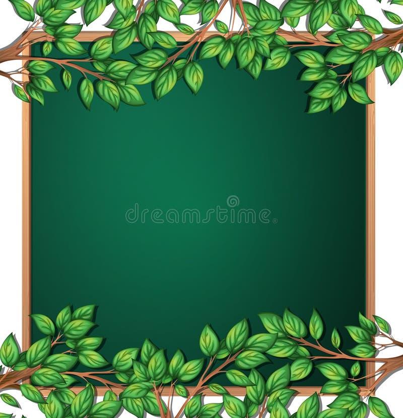 Деревянная рамка ветви дерева иллюстрация вектора