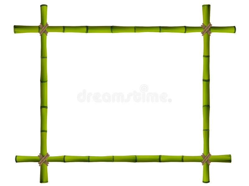 Деревянная рамка старых бамбуковых ручек. бесплатная иллюстрация