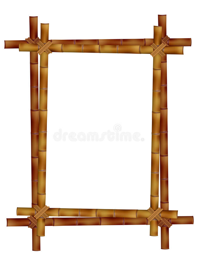 Деревянная рамка старых бамбуковых ручек бесплатная иллюстрация