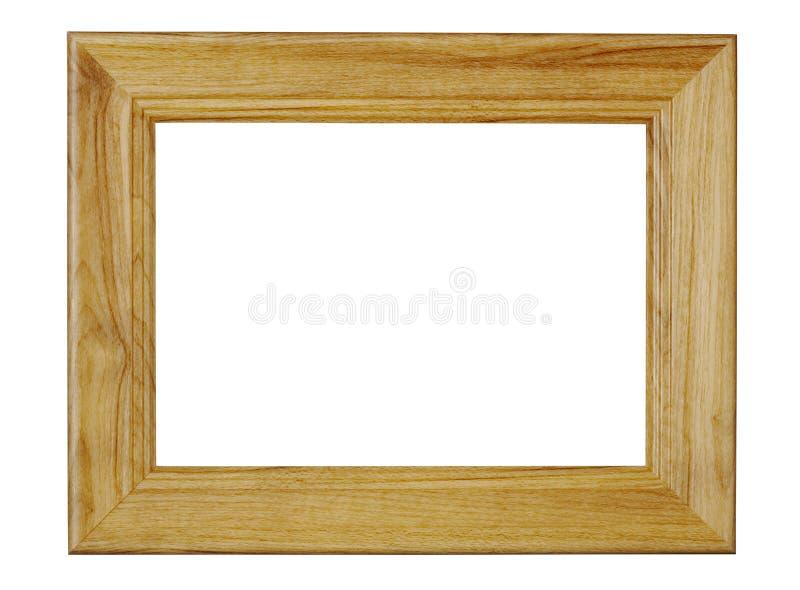 Деревянная рамка фото ремесла изолированная на белизне с путем клиппирования стоковая фотография rf