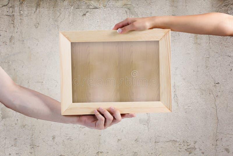 Download Деревянная рамка стоковое фото. изображение насчитывающей штольн - 41651206