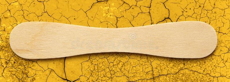 Деревянная ручка мороженого стоковая фотография rf