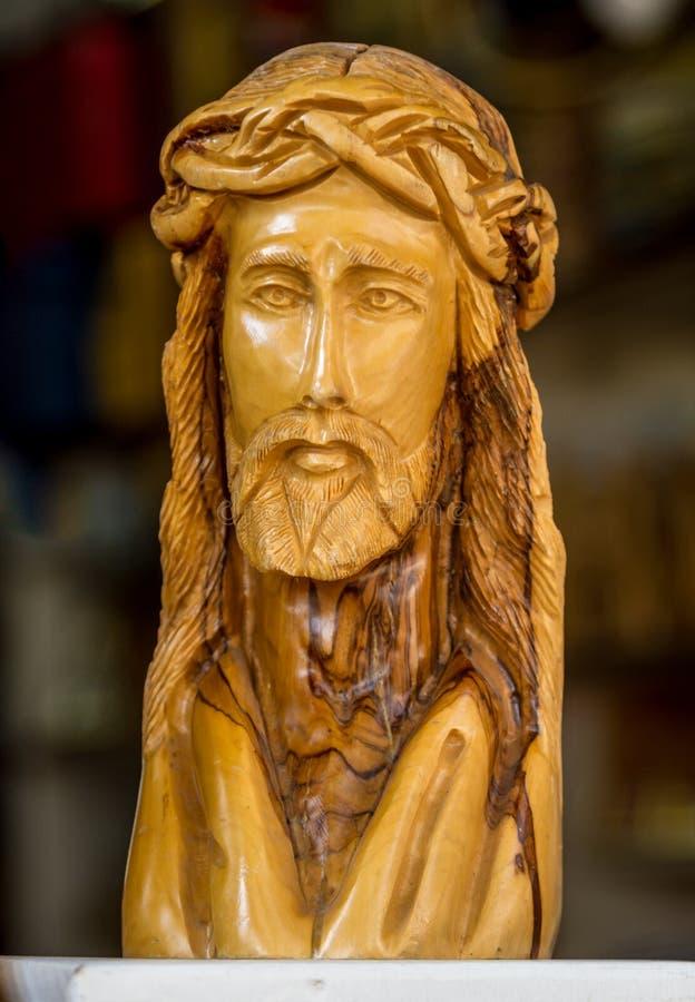 Деревянная скульптура Иисуса Христоса стоковое изображение rf
