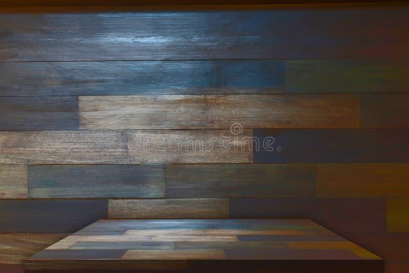 Деревянная столешница с предпосылкой стоковая фотография rf