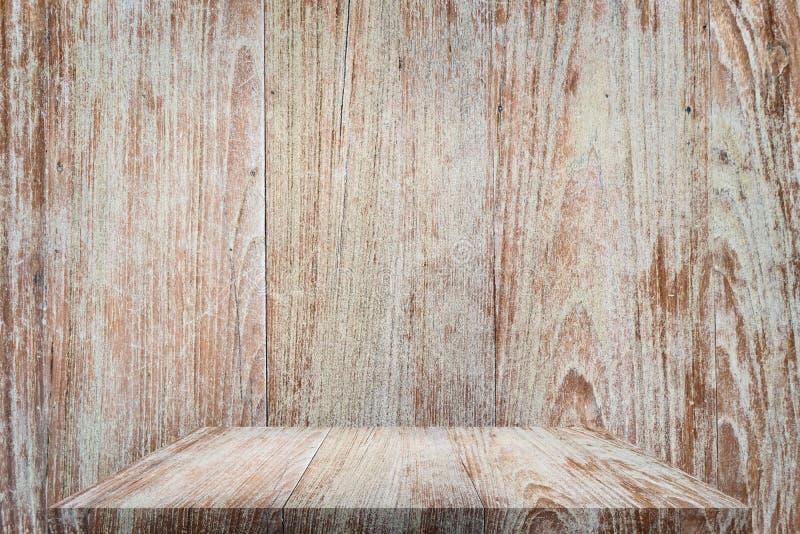 Деревянная столешница с предпосылкой стоковое изображение
