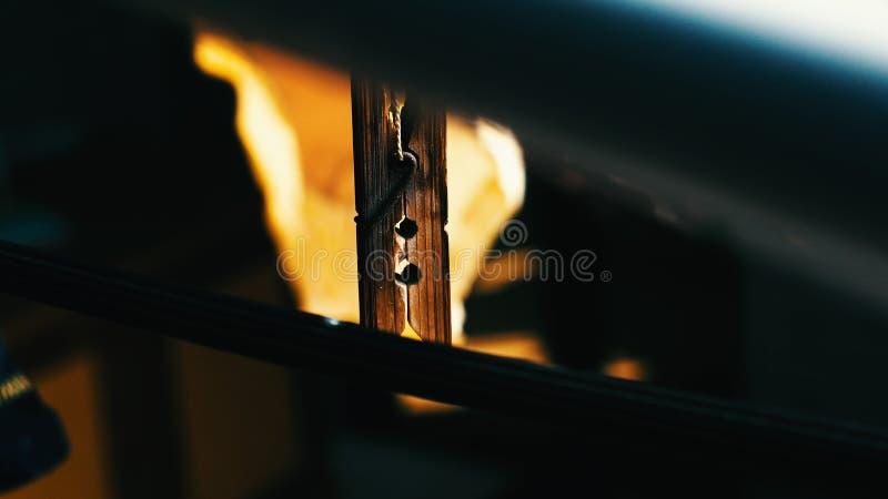 Деревянная струбцина стоковое изображение