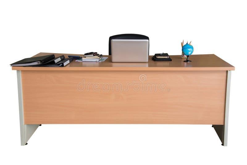 Деревянная таблица стола офиса стоковые фото