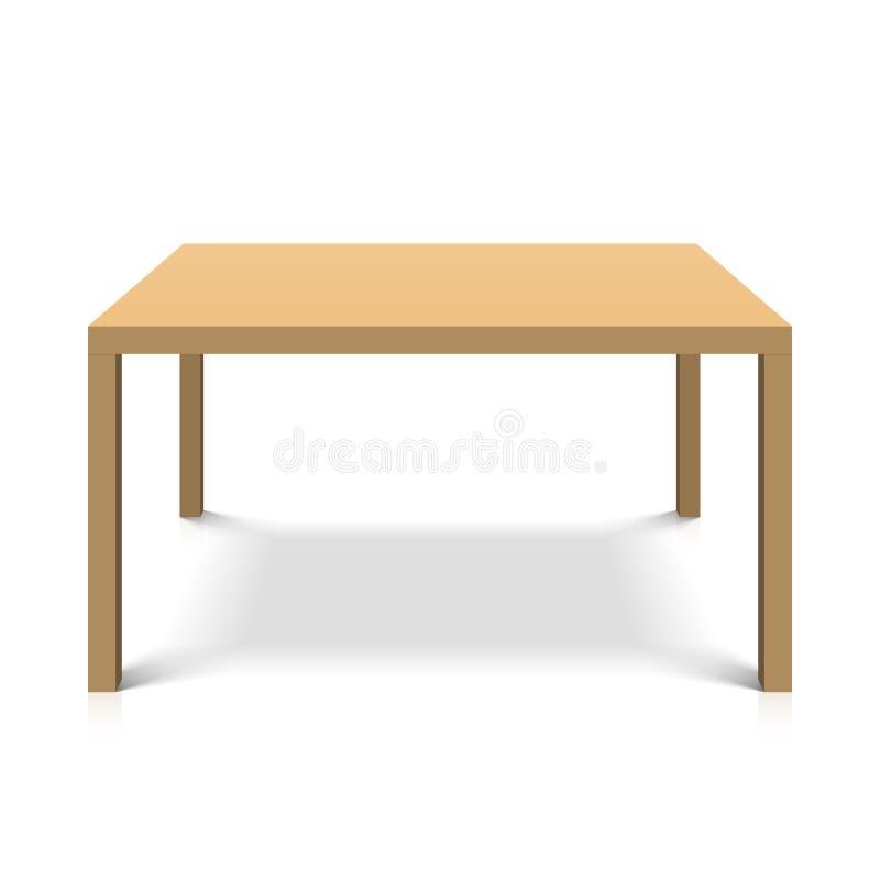 Деревянная таблица иллюстрация вектора