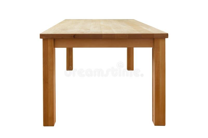 Деревянная таблица изолировала стоковые изображения