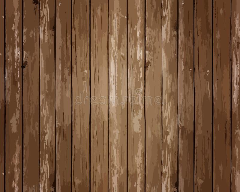 Деревянная текстура верхнего слоя планок для вашего дизайна Легкий для того чтобы редактировать фон текстуры вектора деревянный Т бесплатная иллюстрация