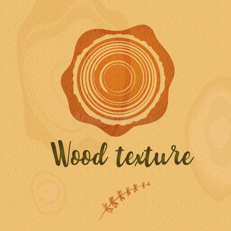 Деревянная текстура для абстрактного дизайна предпосылки Крышка Eco материальная бесплатная иллюстрация