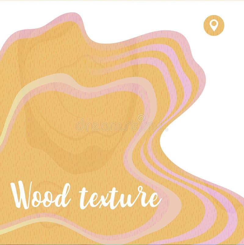 Деревянная текстура для абстрактного дизайна предпосылки Крышка Eco материальная иллюстрация штока