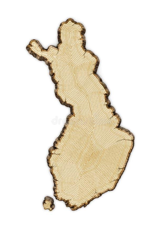 Деревянная Финляндия иллюстрация штока