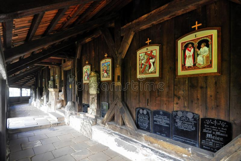 Деревянная церковь в Broumov стоковые фото