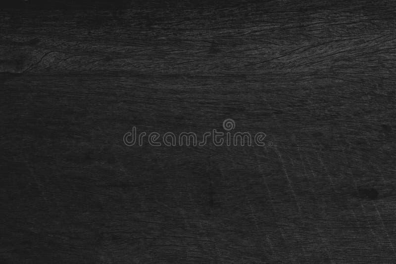 Деревянная черная предпосылка, темный взгляд столешницы текстуры, космос серый l стоковые фотографии rf