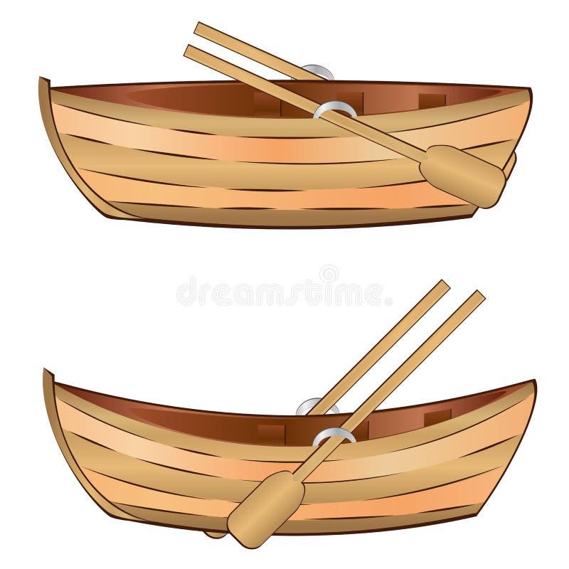 Деревянная шлюпка бесплатная иллюстрация