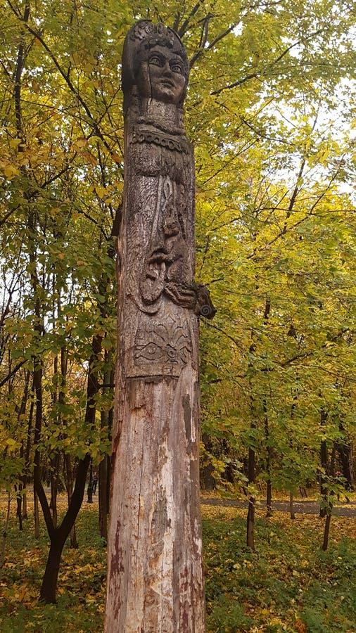 Деревянная языческая статуя стоковое фото rf