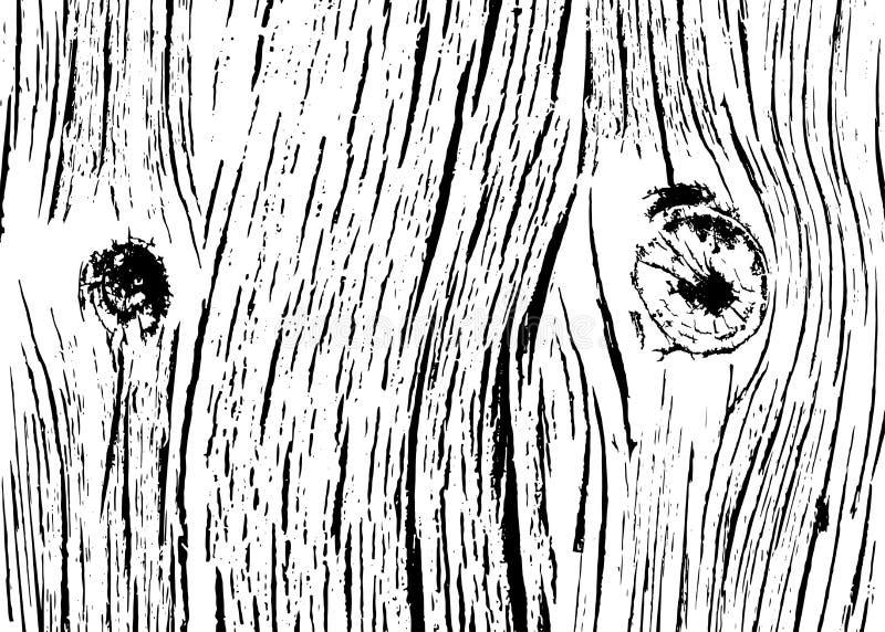 Деревянная monochrome текстура реалистическая иллюстрация штока