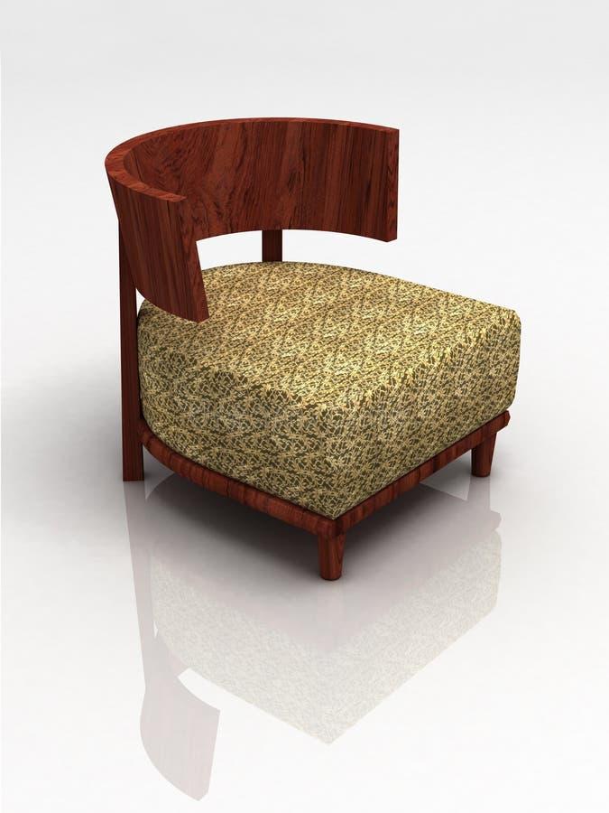 деревянное бежевого стула предпосылки белое стоковые изображения rf