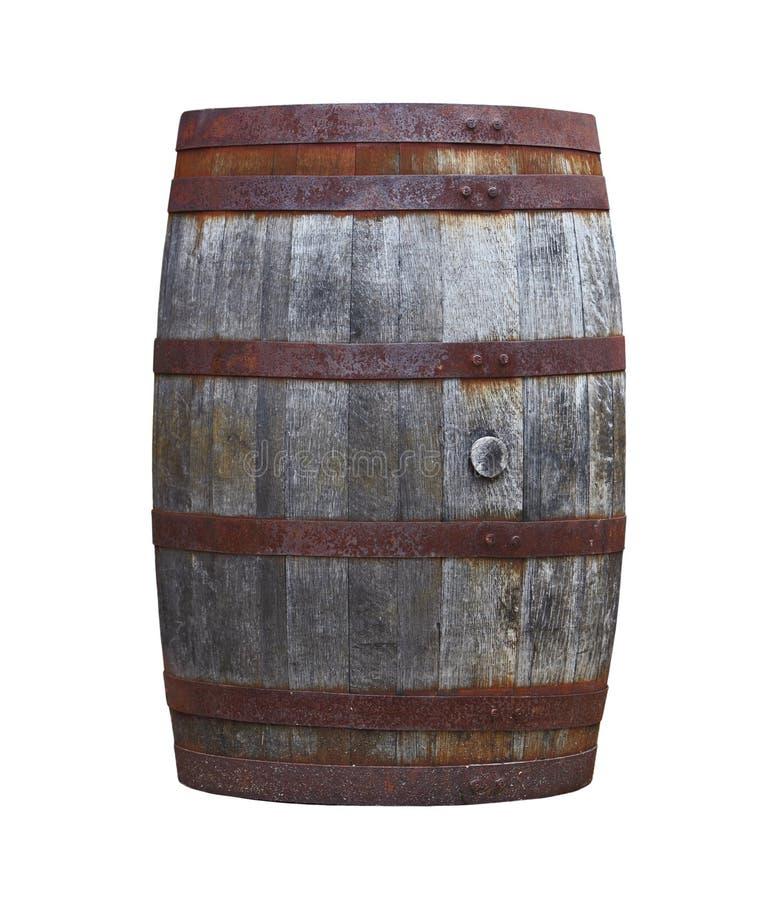 деревянное бочонка старое стоковое изображение