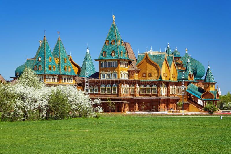 деревянное дворца moscow mikhailovich aleksey tzar стоковые изображения