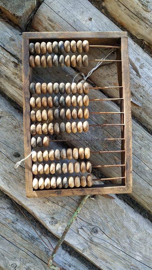 деревянное изолированное абакусом белое стоковое изображение rf