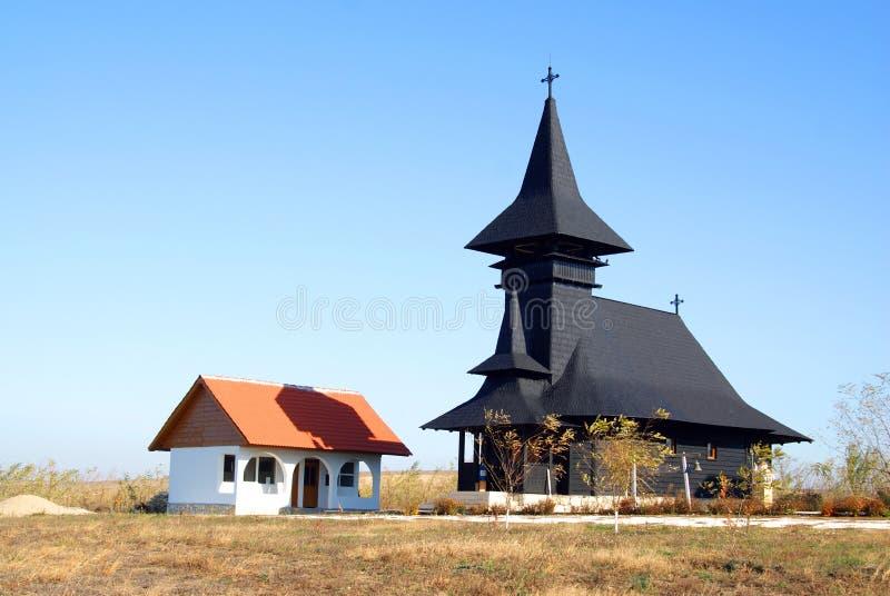 деревянное изолированное церковью правоверное стоковые фото