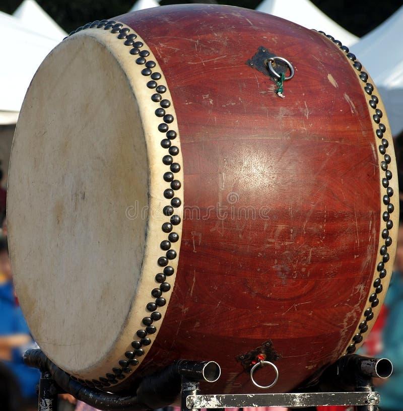деревянное китайского барабанчика большое стоковое фото rf