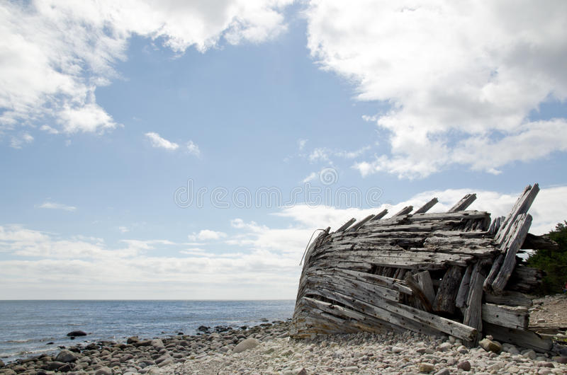 Деревянное кораблекрушение стоковое фото