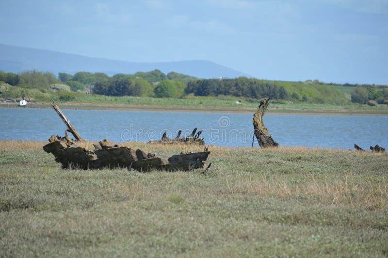 Деревянное кораблекрушение стоковая фотография rf