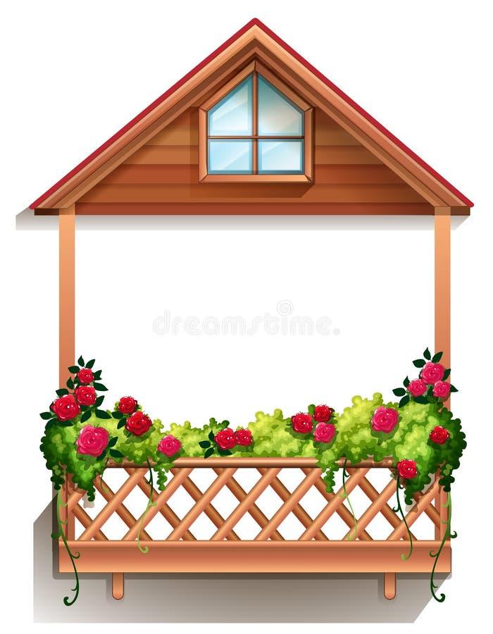 Деревянное крылечко с заводами бесплатная иллюстрация