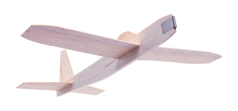 Деревянное летание самолета игрушки стоковая фотография rf