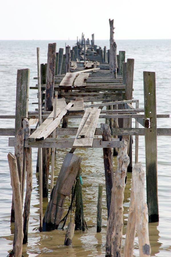 деревянное молы старое стоковая фотография