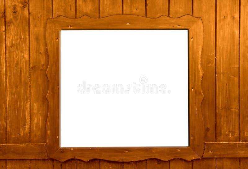 Деревянное окно изолированное как предпосылка стоковое изображение rf