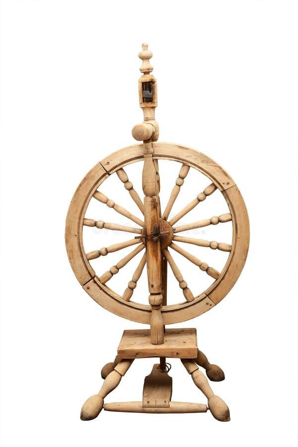 Деревянное старое закручивая колесо иллюстрация штока