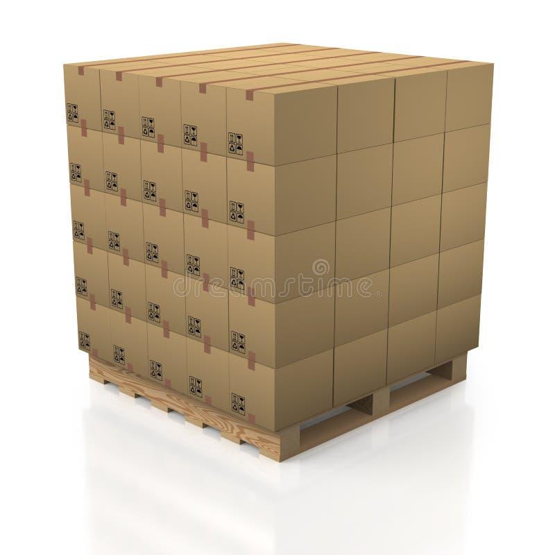 деревянное стога палитры картона коробок аккуратное бесплатная иллюстрация