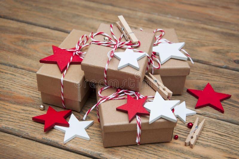деревянное украшений рождества экологическое стоковые изображения